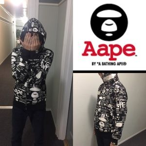 Aspe unisex black and white sweater